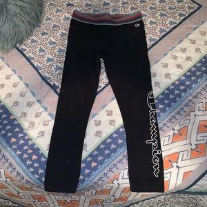 Cropped champion leggings. XS